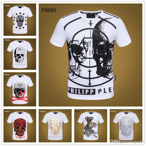 19sa Cartoon Skeleton Logo 2016 Short Sleeve 3D T-shirts with Skulls for Men with Men tshirt Colorful Print in Soft Cotton Tees