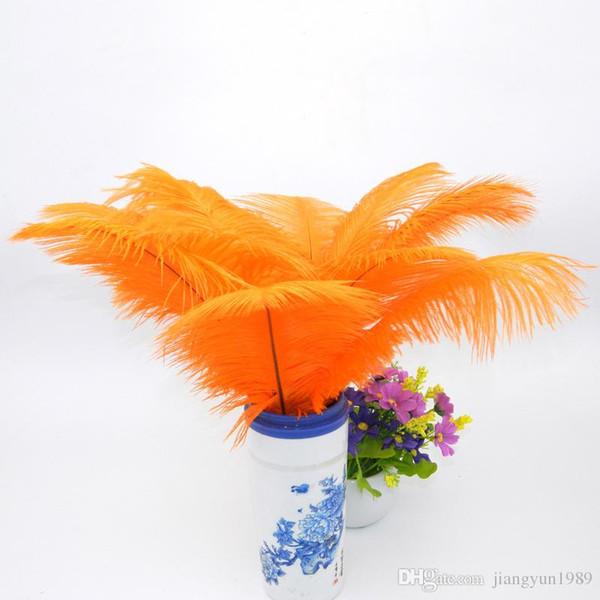 Commercio all'ingrosso 12-14inch 30-35 cm Multicolor piume di struzzo Plume Craft Supplies Wedding Party Centrotavola Decorazione DHL libera il trasporto