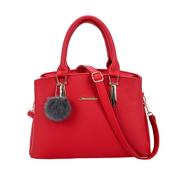 Nice2019 Bulb Hair Handbag Concise Diagonal Bag Woman Package