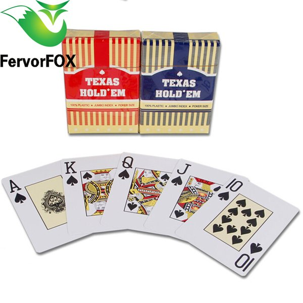 2 Sets/Lot Baccarat Texas Hold'em Plastic Playing Cards Waterproof Frosting Poker Card Pokerstar Board Game 2.48*3.46 inch