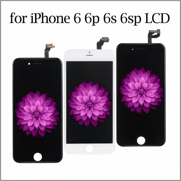 best Quality LCD For iPhone 6s Display Touch Digitizer Screen Assembly Replacement Module for iPhone 6 plus Black White Color Ypf27