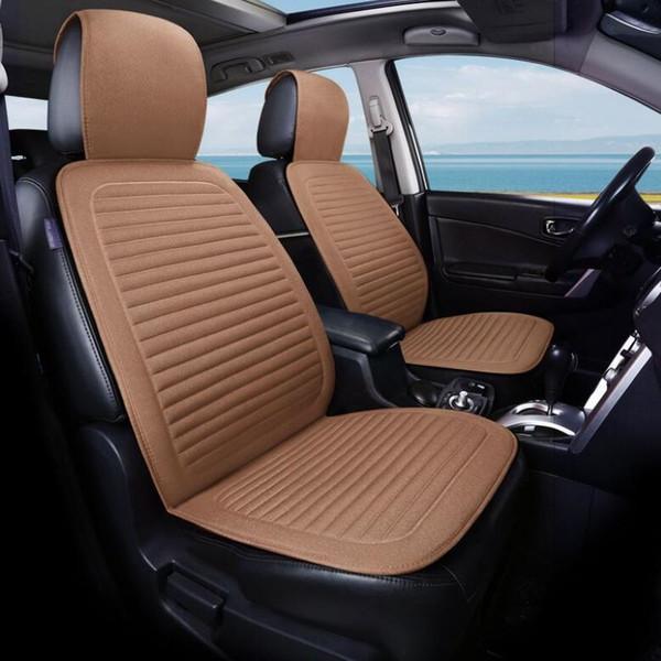 Four Seasons Universal Frente Car Seat Seat Cover Protector Linho Non-Slip Car Almofada Sit Set Capa para mulheres / homens