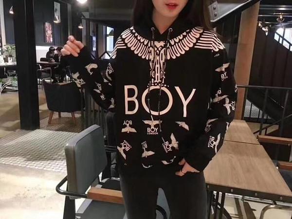 Весна новый дизайнер корейской версии высокого качества уличной моды BOY Eagle с капюшоном полная печать балахон свободные и мужские и женские пары свитер
