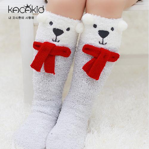 1-5T Baby Unicorn High Socks Coral Fleece Gambaletto per Bebe Bebè Bambina Calze invernali Calze da regalo di Natale