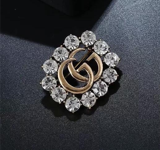 Classic Style Lady Gold Sliver Brooch Fashion Pin for Party Fashion Lapel Pin Men Jewelry Fashion Men Mental Pin Brooch 3423