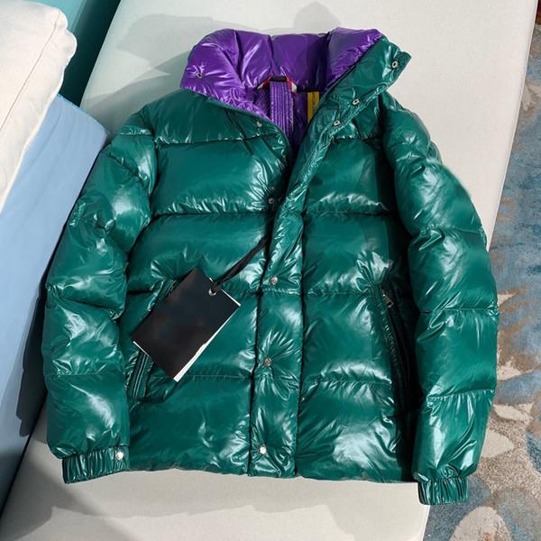 2019 Kış Yeni Aşağı Ceket Erkek Kadın Çift Modelleri Kısa Paragraf Yaka Tasarımcı Ceketler Erkek Tasarımcı Ceketler Yüksek Kalite Sıcak ceket