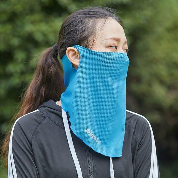 Per la guida all'aperto Arrampicata Assorbimento del sudore Maschera per il viso Traspirante Parasole Protezione in poliestere Copricapo