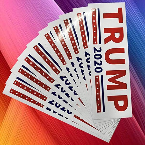 حار بيع ترامب سيارة ملصقا إبقاء أمريكا العظمى مائي 2020 الانتخابات M629F الوفير ملصقا 7.6 * 22.9 سنتيمتر أزرق أبيض