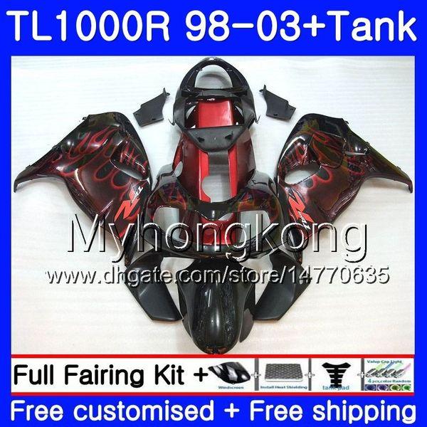 +Red flames hot Tank For SUZUKI SRAD TL1000R 1998 1999 2000 2001 2002 2003 304HM.54 TL 1000R TL1000 R TL 1000 R 98 99 00 01 02 03 Fairing