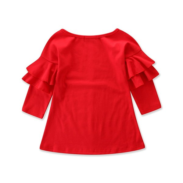 girls summer dress casual style baby girls clothes children dresses 2018 cotton a-line birthday princess dress Red