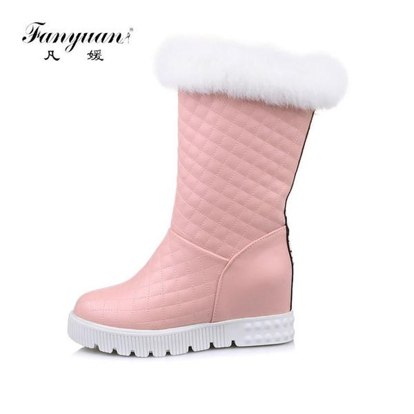 Botas de tobillo para Mujer Fanyuan Botas de nieve con