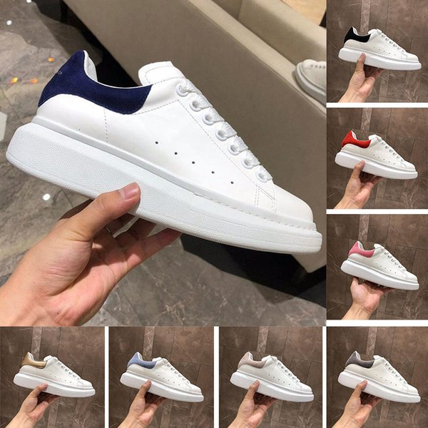 New Womens Casual Luxury Shoes Lace Up Designer Training Comfort Pretty Sneakers Casual Leather Shoes Men Womens Sports Sneakers Eur 35-45