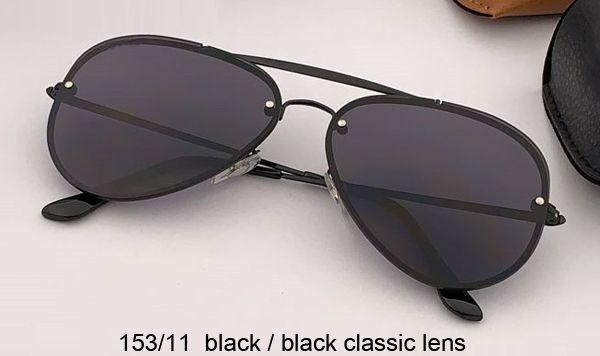 عدسة 153/11 سوداء / سوداء كلاسيكية