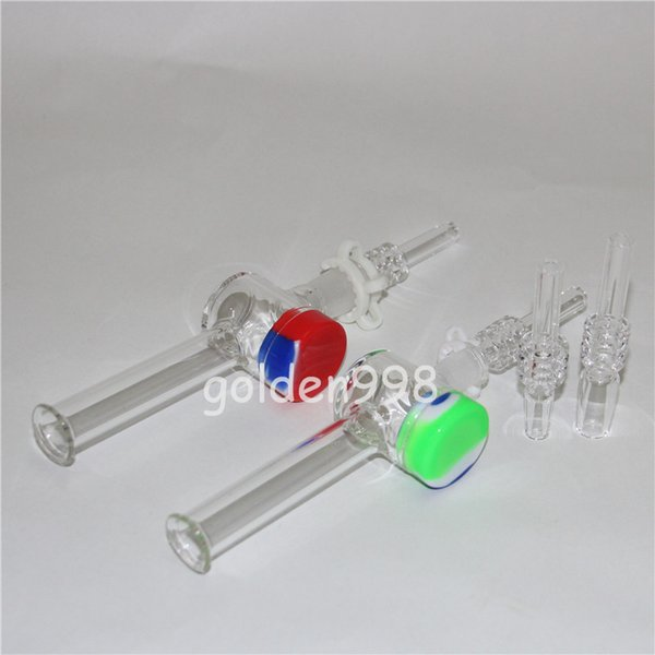mini nectar collector kit honey quartz dab straw Glass water pipes bong smoking pipe titanium quarts Oil Rigs rig Dabs hookahs