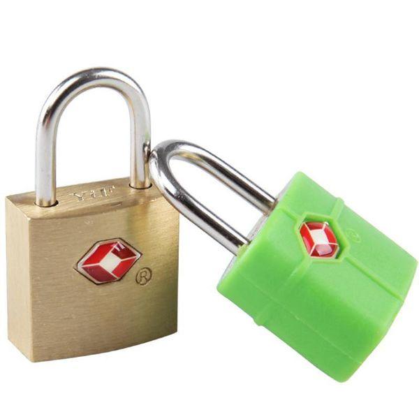 best selling Wholesale Outdoor Travel Luggage Suitcase Mini Brass Padlock TSA Customs Lock Travel Travel Lock Door Locks Safety Suitcase Locks BH0357