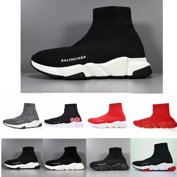 Balenciaga 2019 Designer Calze scarpe moda uomo donna sneakers speed trainer nero bianco blu rosa glitter mens scarpe da ginnastica casual scarpa Runner suola pesante
