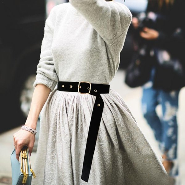 Ladies Waist Belt Dress Decor Corset Waistband Stylish Square Buckle Belts