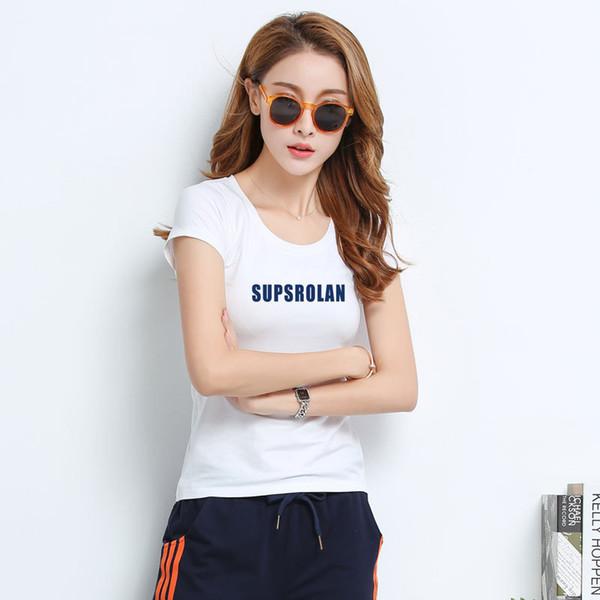 Футболка женская новые футболки женские 2018 моде винтаж футболки хлопок о шея с коротким рукавом L194