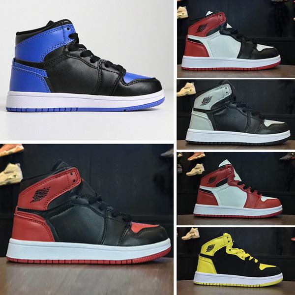 Gold Kasten 1 Schuhe Hare Retro Chicago Air Designer 1 Nike Bred Jordan Royal Schuhe Top 3 Basketball Schuhe 1s Kinder Designer Großhandel S Gürtel 54ARqjL3