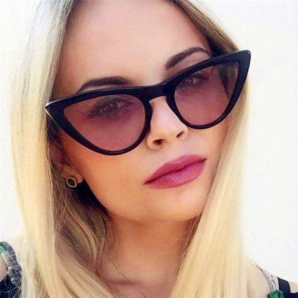 VORHANG 2019 Star Style New Fashion Nette Sexy Damen Cat Eye Sonnenbrille Frauen Vintage Marke Brille Weibliche Oculos de sol UV400