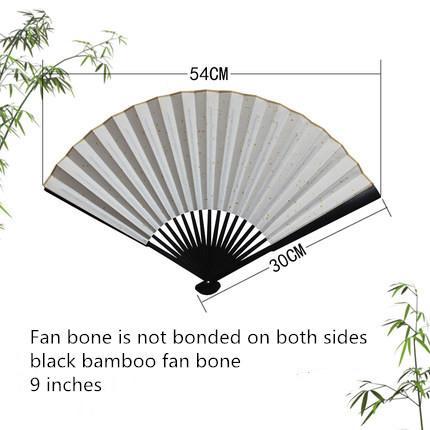 """9"""" black bamboo fan bone"""