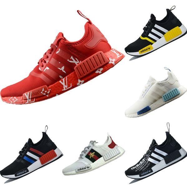 With Box 2019 R1 Консорциум LVV Cucci Mesh Дышащие кроссовки Оригиналы R1 x LVV x Cucci Buffer Foam Спортивная обувь