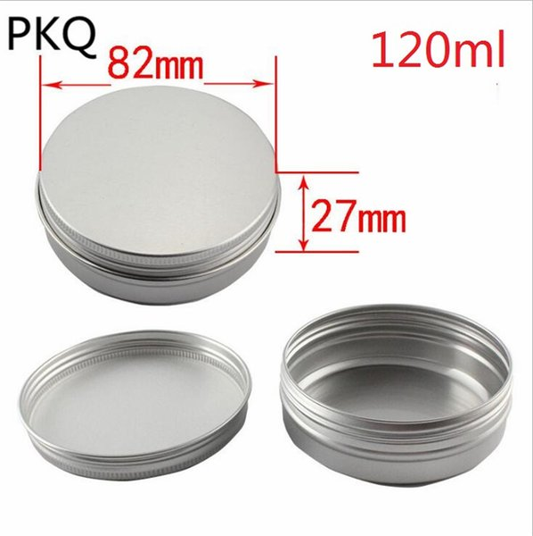 60pcs recipientes vazios 200ml / 150ml / 120ml frascos vazios da folha frascos cosméticos recipientes de alumínio para cosméticos caso de alumínio da composição