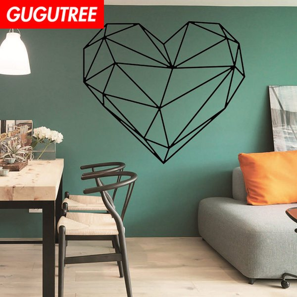 Decorate Home love heart cartoon art wall sticker decoration Decals mural painting Removable Decor Wallpaper G-1664