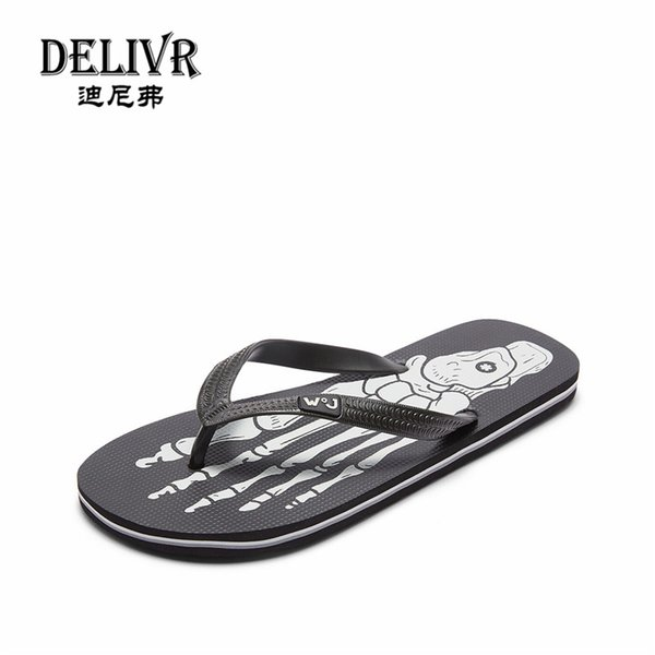 Delivr Swimming Water Shoes Bathroom Beach Sneakers Balance Men Shoes Sandals Flat with Rubber Thongs Indoor Non-slip Flip Flops