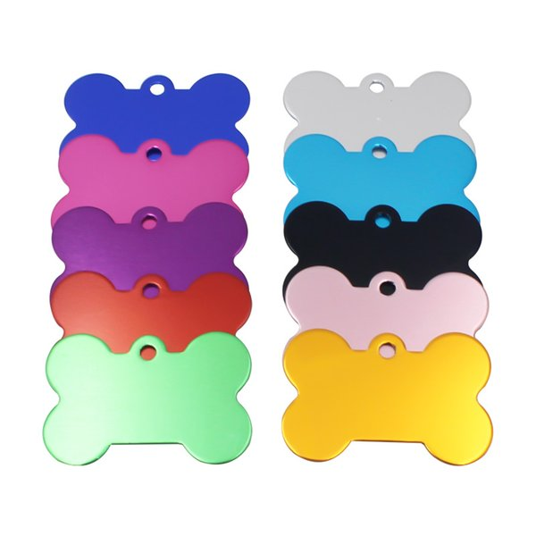 PET Blank DIY Tag Bone shaped Dog Cat Name Charm Tag Personalized Dog Cats ID Tags