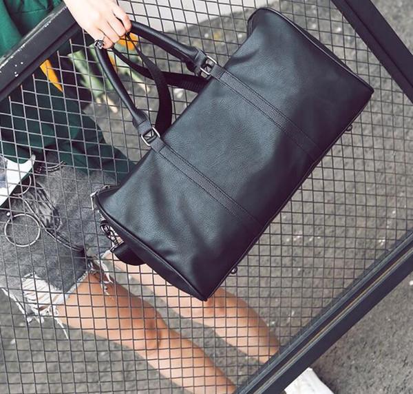 Acheter Chaud Hommes 2019 Femmes Sac De Voyage Pu Sac Polochon En Cuir Sacs à Main Bagages Designer Marque Grand Sac De Sport De Capacité De 2945 Du