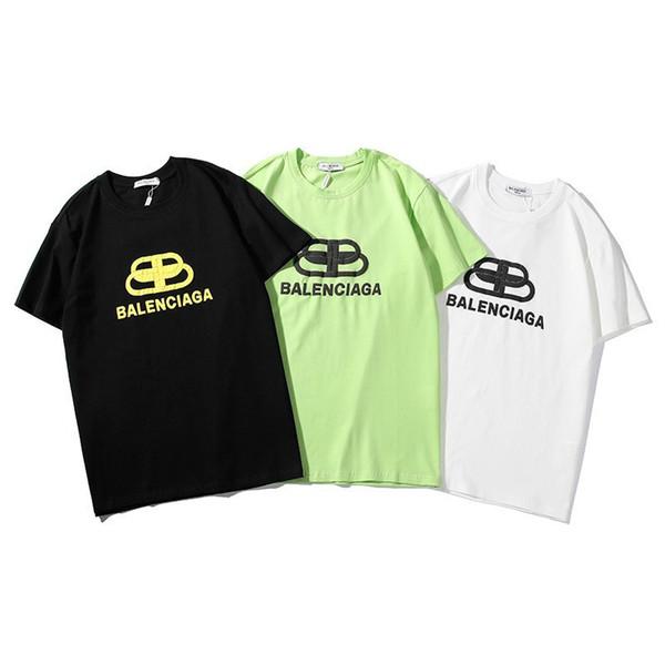 Мужские рубашки для T новая футболка круглый вырез черный белый зеленый дикая мода классическая футболка стекаются печатные с коротким рукавом
