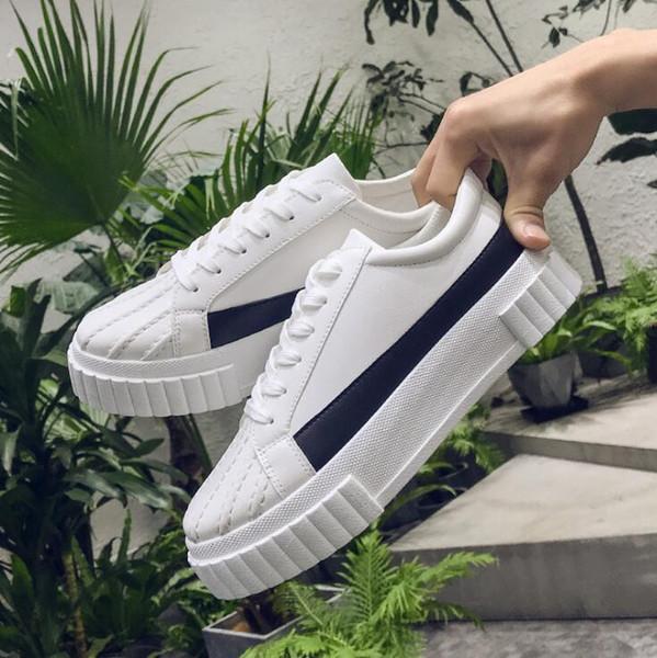 Hommes et femmes avec des chaussures à semelle haute et épaisse, chaussures de sport de haute qualité en PU shell head, souliers de sécurité confortables à plateforme plate shTriple F2.9