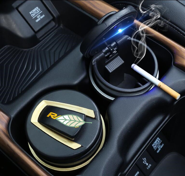 Car Ashtray Garbage Coin Storage Cup Container LED Light Cigar Ash Tray for TOYOTA RAV 4 Car Styling Accessories,High Quality