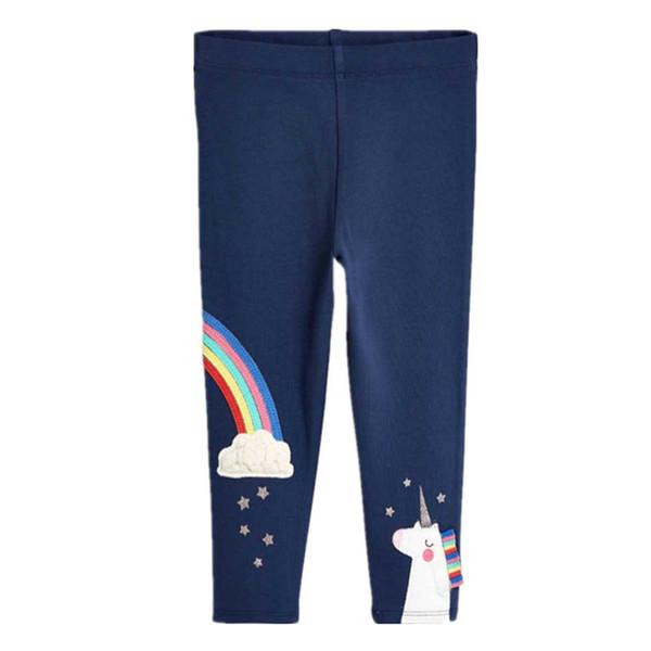 Unicorn Girls Leggings New Baby Leggings para niñas Pantalones 100% algodón Carácter Imprimir Niños Pantalones Pantalones pitillo