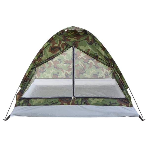 Cheap Tents TOMSHOO 2 Persons Waterproof Camping Tent PU1000mm Polyester Fabric Single Layer Tent for Outdoor Travel Hiking 200*130*110cm