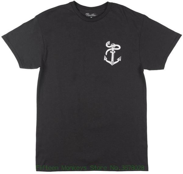 Male Pre cotton Clothing 100% Cotton Skateboard Set Sail Regular Fit T-shirt Skatewear Tee Top Men Black
