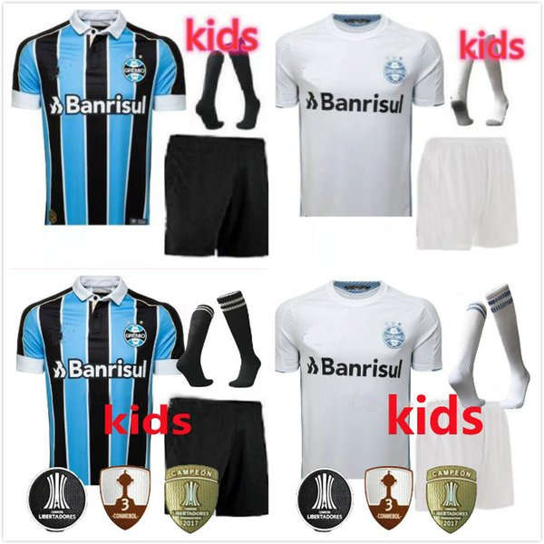 kids kit+Socks Gremio 19 20 soccer Jersey Home blue Away white 2019 EDILSON GEROMEL KANNEMANN LUAN Ramiro EVERTON 2019 2020 FOOTBALL SHIRT