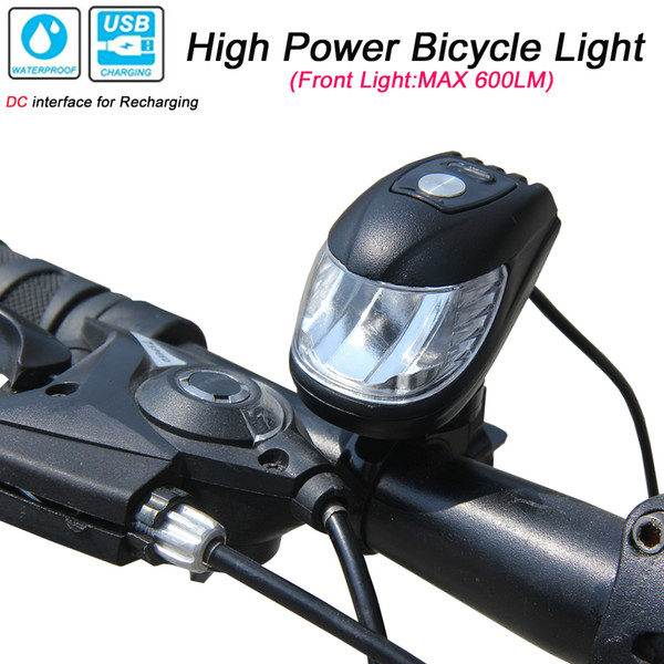 PAGAO USB Rechargeable LED Bike Light,Super Bright Cycling Flashlight,Intelligent Sensor Motion and Waterproof Bicycle Light,600 Lumen Front