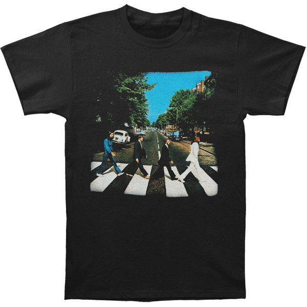 Beatles Men's Abbey Road Vintage T-shirt Medium Vintage funny gift Short short Sleeve T-Shirt Tops Round Neck Tees
