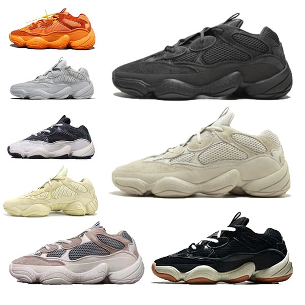 2019 top fiat 500 Kanye West Laufschuhe Super Moon Yellow Blush Desert Rat 500 Herren Sport Luxus Designer Sneakers Damen Freizeitschuhe