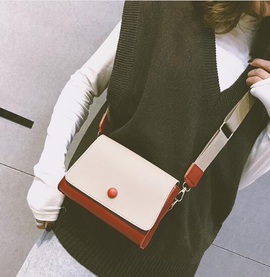 Nova versão coreana das mulheres selvagem pacote quadrado pequeno ombro saco do mensageiro sacos de telefone móvel sacos de cintura saco Crossbody sacos de cosméticos