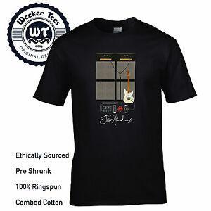 Jimi Hendrix T Shirt Cool New WoodstoShirt Guitarra Configuración Diseño Efectos Pedal, etc.
