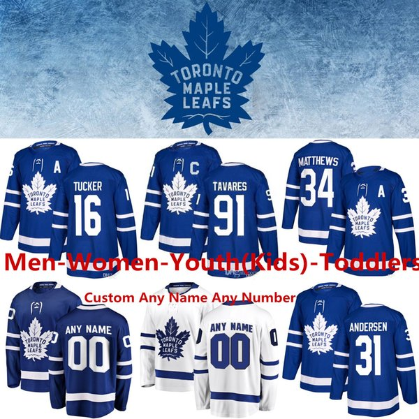 top popular Toronto Maple Leafs Jersey 16 Mitchell Marner Hockey jerseys 19 Jason Spezza 31 Frederik Andersen Morgan Rielly William Nylander Jake Muzzin 2019