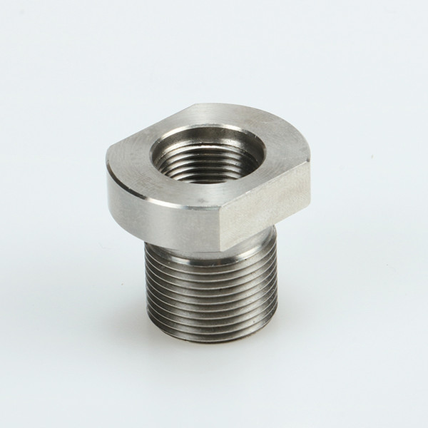 top popular 5 8-24 Male to 1 2-28 Female Thread Adapter Stainless Steel Suppressor Adapter, Shipping From USA 2020