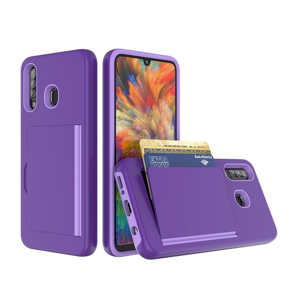 For Samsung A20 A30 A50 Note 10 Pro A10E S10 5G A9 A7 A6 Plus J8 208 J3 J7 2019 Wallet Card Slot Holder Hidden Back Shock Absorption Case