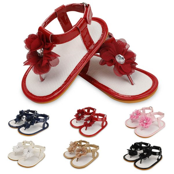 New crystal floral baby girl shoes baby shoes princess Toddler Sandals Baby First Walker Shoes Infant Summer Sandals Infant Shoe A3984