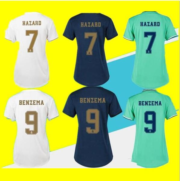 2019 HAZARD Real madrid Jersey Benzema ASENSIO football Soccer Modric Kroos Sergio Ramos Bale Marcelo 19 20 Real Madrid man woman shirts
