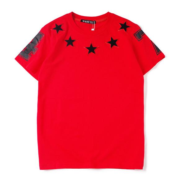 Erkekler için Yaz Tişörtlü Mektupları Tasarımcı Hip Hop Gömlek Kısa Kollu Tişört Mens ile Tops