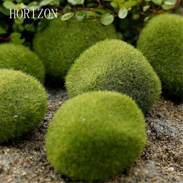 stone green New Green Artificial Moss Stones 3 sizes to Choice Grass Bryophytes Home Garden Bonsai terrariums home decoration accessories
